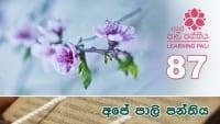 Learning Pali language 87 shraddha tv buddhist