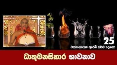 ධාතුමනසිකාර භාවනාව Shraddha tv buddhist