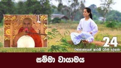සම්මා වායාමය Shraddha tv buddhist